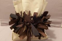 Gift Bag Scrunchie in Eco Brown is a lovely contrast with a natural, cloth bag.