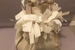The Gift Bag Scrunchie is a tone on tone compliment to this cloth bag and pulls it together beautifully!