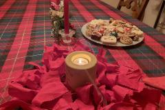 Gift Bag Scrunchies are so versatile! RightOn Red Scrunchie looks gorgeous with your holiday table decor.